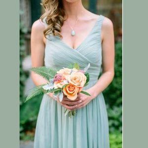 J.Crew Silk Heidi Dress Dusty Shale Bridesmaid